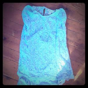 Blue maternity top